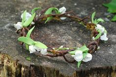 Woodland Wedding Head Piece/ Woodland Tiara/ Fairy by LilyMairi, $36.00