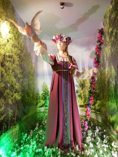 Lada – the goddess of spring, beauty and marriage; Museum of Slavic Mythology and Fairy Tales, Russia.