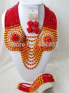 Find More Jewelry Sets Information about Gorgeous! Opaque red mixed yellow Crystal Beads Nigerian wedding african beads jewelry set costume jewelry set AAC084,High Quality jewelry resin,China jewelry face Suppliers, Cheap jewelry center from Alisa's Jewelry DIY Store on Aliexpress.com