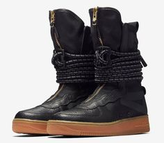 Nike SF-AF1 High Color  Black Gum Medium Brown Style Code  AA3965 2b8acbb6c