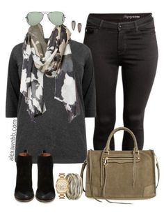 Plus Size Fall Black Jeans Outfit - Plus Size Fashion for Women - alexawebb.com