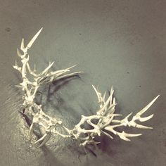 A closeup look at the silver antler/bone crown, designed by Eero Hintsanen for our Fall 2013 collaboration.