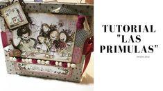 """TUTORIAL ÁLBUM LAS PRIMULAS """"EL ALTILLO DE LOS DUENDES"""" ( PARTE 2) Mini Scrapbook Albums, Mini Albums, Graphic 45, Mini Books, Ideas Para, Diy And Crafts, Decorative Boxes, Youtube, Interior"""