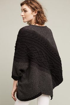 Cabled Catillon Poncho
