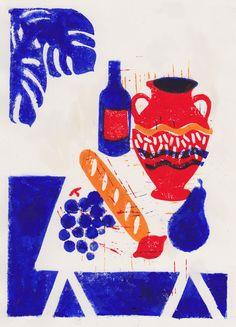 Léa Maupetit, Baguette et vin rouge