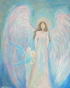 "Healing Angel 11""x14"" acrylic painting by BrydenArt.com  $87.00"