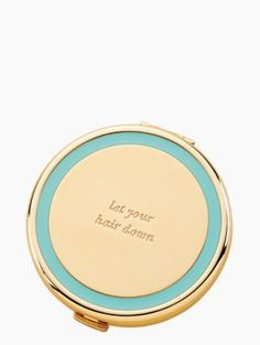 The Holly Drive Compact Collection by kate spade new york to quote the designer, kate spade, why touch up your lipstick surreptitiously when you can channel your favorite silver-screen starlet with a glamorous compact? These lovely gold and ena Let Your Hair Down, Wash Your Face, Compact Mirror, Down Hairstyles, Diy Beauty, Beauty Tips, Gifts For Her, Hair Makeup, Kate Spade