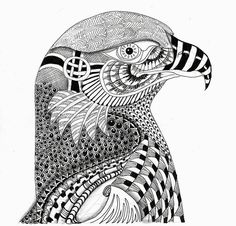 EFIE goes Zentangle - Ben Kwok Eagle --by Efie