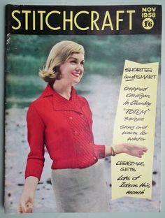 1950/'S VINTAGE  KNITTING PATTERN WOMEN/'S SMART WAISTCOAT