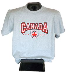 Canadian T-shirt that is Made in Canada too! Available in fitted sizes and multiple colours.