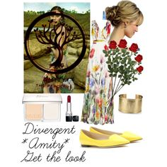 *DIVERGENT* Amity Get the look by dianasirca on Polyvore featuring polyvore fashion style Badgley Mischka Jimmy Choo Blue Nile Christian Dior Laura Cole