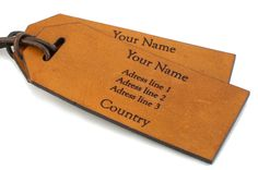 These leather luggage tags are functional and stylish! These luggage tags are skilfully created with high quality leather in order to give you a product tha