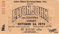 Elton John Dodger Stadium  #music