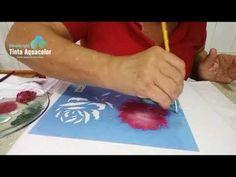 Fabric Paint Designs, Stencil Designs, Fabric Design, Stencils, Stencil Art, Rosa Stencil, Fabric Painting, Decoupage, Scrapbook