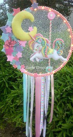 Ulsan · Busan Interior Tidy Company / * Traumfänger Unicorn Themed Birthday, Unicorn Party, Felt Crafts, Paper Crafts, Unicorn Room Decor, Dream Catcher Craft, Unicorn Crafts, Birthday Balloons, Birthday Party Decorations