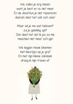 Rouwen: gedicht Sad Words, Dutch Quotes, Miss You, Grief, Psychology, Poems, Memories, School, All Saints Day