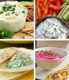 Homemade dips: cheddar, tzatziki, beetroot, thyme, parmesan, spinach... delicious!!