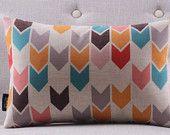 Multi couleur flèches décoratives coussin cas, géométriques Throw Pillow Case, rétro Vintage lombaire coussin de coton 30 x 50