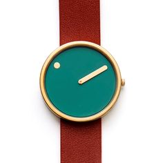 Picto by Danish designers Steen Georg Christensen and Erling Andersen for Rosendahl, is the first wristwatch to use this rotary disk system and is available