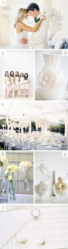White on white wedding inspiration  #White wedding receptions ... Wedding ideas for brides, grooms, parents & planners ... https://itunes.apple.com/us/app/the-gold-wedding-planner/id498112599?ls=1=8 … plus how to organise an entire wedding, without overspending ♥ The Gold Wedding Planner iPhone App ♥