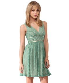Pleated Button Lace Dress | FOREVER21 - 2000043222