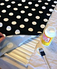 Great idea for jazzing up blinds