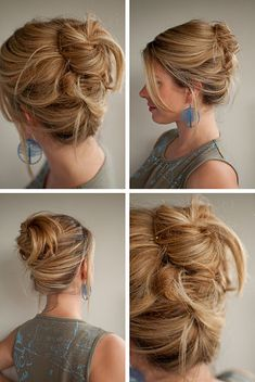 Messy high Twist and Pin hairstyle