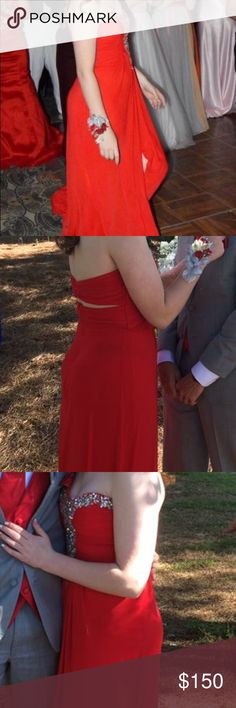 Red Prom Dress Worn once for senior prom! Excellent condition! Dresses Prom