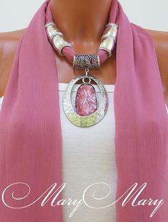 Женский шарф с подвеской Алиса, от творческой мастерской MaryMary