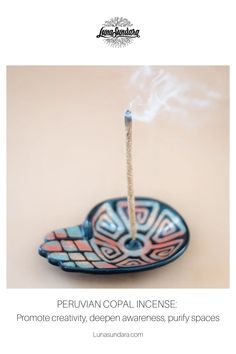 Get to know our newest incense: Peruvian copal incense. Find out copal incense meaning, and uses. Discover copal incense benefits, such as ways to promote creativity, deepen awareness, and purify spaces. #lunasundara   #copalincense   #copalincensebenefits   #burnincense   #energycleansing Aromatherapy Benefits, Aromatherapy Jewelry, Aromatherapy Products, Burning Incense, Smudge Sticks, Incense Holder, Oil Uses, Incense Sticks, How To Stay Healthy