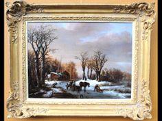 Object vd dag #Antiekbeurs #Delft Schilderij B.C. Koekkoek (1803-1862) Winters bos 1824 http://online.antiekbeursdelft.nl/product/view/190/schilderij-b-c-koekkoek-1803-1862-winters-bos-en-ijsgezicht-met-schaatsers-figuren-en-een-paardenslee