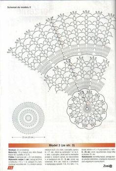 "Photo from album ""Robotki Reczne extra on Yandex. Crochet Tablecloth, Crochet Doilies, Japanese Crochet Patterns, Crochet Diagram, Views Album, Vintage World Maps, The Originals, Handmade, Yandex Disk"
