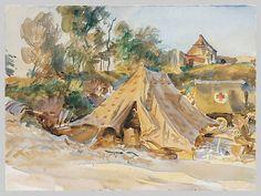 Camp with Ambulance  John Singer Sargent