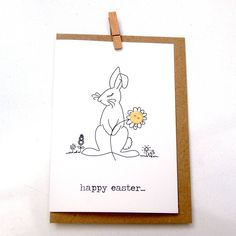 'Happy Easter' Bunny Button Box Card (from The Hummingbird Card Company.) Greeting Card