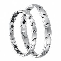 Couple's Anti-fatigue Health Magnetic Stainless Steel Bracelets (Lover's Gift, One Pair & Single Item Selectable) (Bundle Deal (Men's & Women's)) Tungsten Love. $29.99. Material: 316L Stainless Steel. Stainless Steel creates a modern jewelry look.. Couple's Anti-fatigue Health Magnetic Stainless Steel Bracelets. Length: 21cm for ladies' or 22.5cm for men's. Width: 8mm for ladies' or 10mm for men's