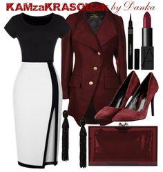 Biela, čierna a bordová - KAMzaKRÁSOU.sk #kamzakrasou #sexi #love #jeans #clothes #coat #shoes #fashion #style #outfit #heels #bags #treasure #blouses #dress