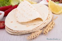 Making Homemade Flour Tortillas from scratch can be a scary thought but they are not as hard to make as they seem and taste better than store bought Homemade Desserts, Delicious Desserts, Yummy Food, Tapas, Homemade Flour Tortillas, Tacos And Burritos, Freezer Meals, Food Items, Food Hacks