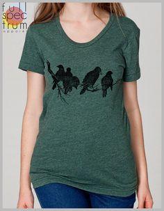 Birds on a Limb Women's T Shirt American by FullSpectrumApparel, $22.00 #bird #woman #women #shirt #American #Apparel