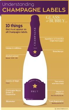 Understand the content on Champagne labels. Champagne Label, Champagne Bottles, Champagne Quotes, Champagne Drinks, Champagne Brunch, Wine Infographic, Infographic Education, Infographics, Wine Facts