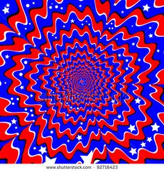 Stars and Stripes  (motion illusion):                     abstract, backdrop, background, blue, circles, decoration, decorative, expand, expansion, illusion, illustration, motion, optical illusion, patriotic, patriotism, pattern, red, stars, stripes, usa, vector, white