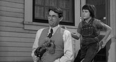 """""""To Kill A Mockingbird's Atticus and Scout."""""""