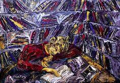 Barcelo, Miquel (1957-...) Bibliotheque avec Poe, 1983