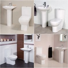 Toilet wc sink basin #bathroom suite two piece pan #close coupled full #pedestal,  View more on the LINK: 	http://www.zeppy.io/product/gb/2/281070268985/