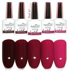 """NAIL IT! by Inanna : Indigo Nails """"Lipstick Collection - swatches of all 5 colors Opi Pink Nail Polish, Opi Gel Nails, Nude Nails, Gel Polish, Mani Pedi, Pedicure, Acrylic Nail Designs, Acrylic Nails, Indigo Nails"""