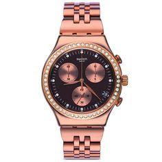 reloj swatch mujer precious rose crongrafo ycgg relojes swatch
