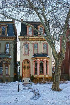 Romantisk hus från Södern,USA