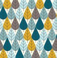 Charley Harper! Octoberama Blue - NoeKs webshop | stoffen, papier en stempels