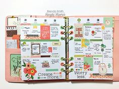 Carpe Diem The Reset Girl Ballerina Pink Planner by design team member Brenda Smith