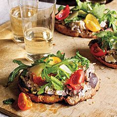 Make this fresh Eggplant Crostini for an appetizer for your Mother's Day dinner. | Health.com