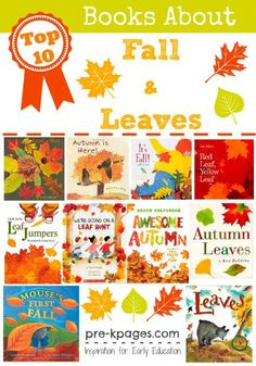 Books about fall leaves.
